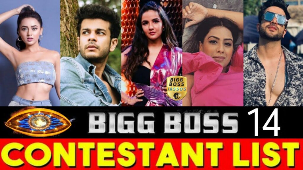 bigg boss 14 contestants name list with photo
