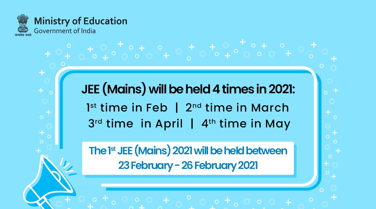 jee mains 2021 news 4 times exam date latest