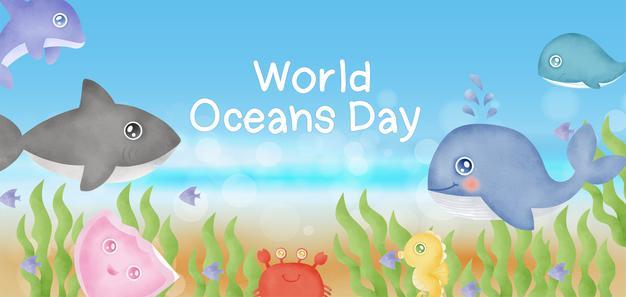world ocean day poster 8th june 2021